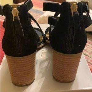 Franco Sarto Shoes - Bland new black  Franco Sarto suede sandals